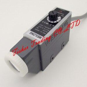 Image 1 - Weilong color mark sensor KS W22 KS W23 for bag making machines,10~30VDC photoelectric eye switch with white LED light spot