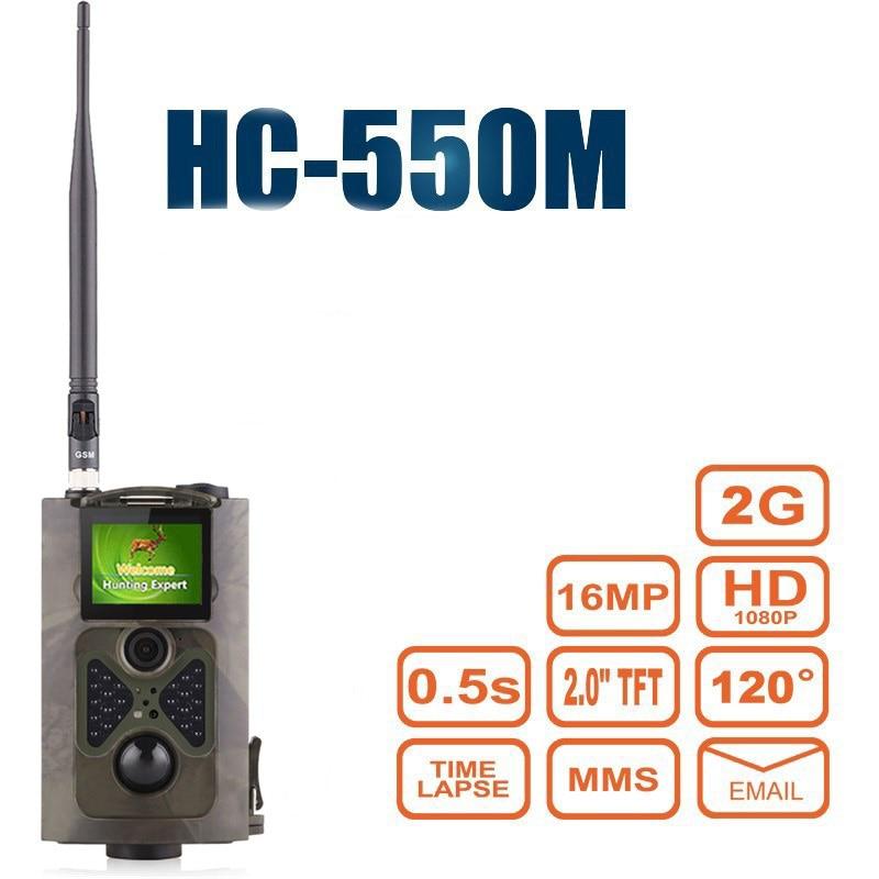 лучшая цена 16MP Wild Camera Hunting 0.5S Trigger Photo Traps HC550M Digital Wildlife Camera Wild camera chasse mms HC550M photo traps cam
