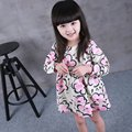 Fashion Baby Girl Dresses Casual Cotton Kids Girls Dress Long Sleeve Girl Dresses Autumn Floral Kids Party Dress For 1-8Y