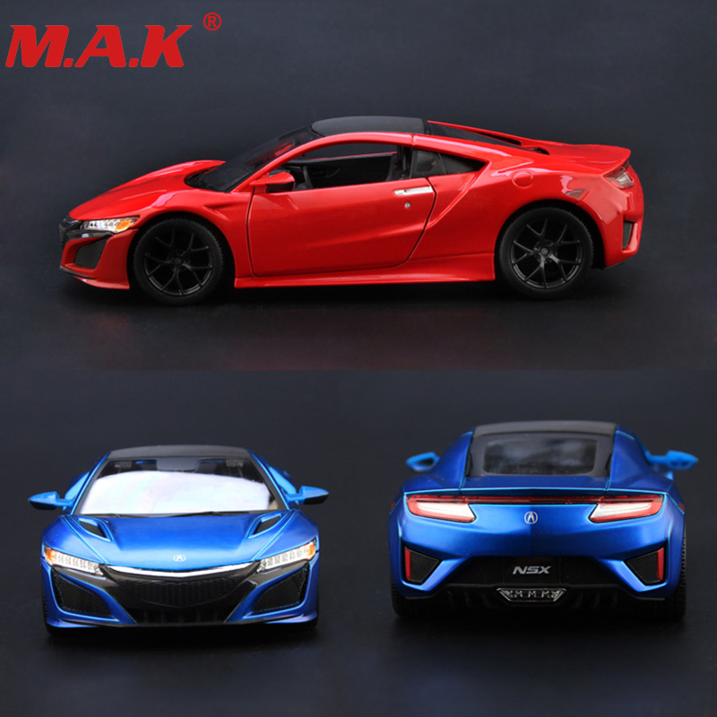 1:24 diecast car model Acura NSX sport racing car alloy model blue red color gift toys for kids and children for collections
