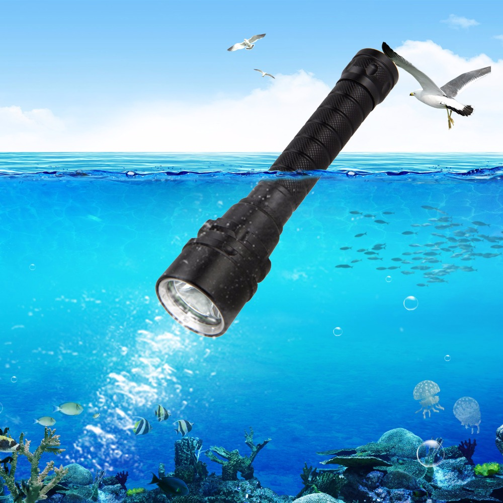 LED tactical diving flashlight underwater 4000Lm XM-L U2 Scuba Diving Light Lantern Torch+18650 rechargeable Battery+charger zk45 self defense cree xm l t6 rechargeable torch 4000lm led flashlight lantern tactical for emergency defensive light