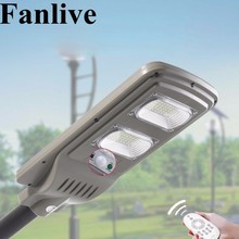 Fanlive 5PCS 30W 50W 80W Integrated LED Solar Lamps For The Yard Street Light Outdoor Waterproof IP66 PIR Sensor Remote Control