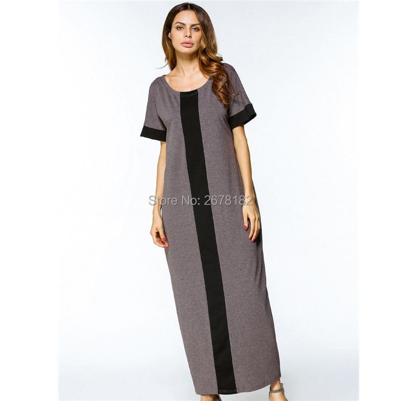 Casual Muslim Maxi Dress Plus Size T Shirt Dresses Abaya Loose Style  Ramadan Arabic Long Robes Turkish Islamic Prayer Clothing-in Islamic  Clothing from ... 6accf207007a