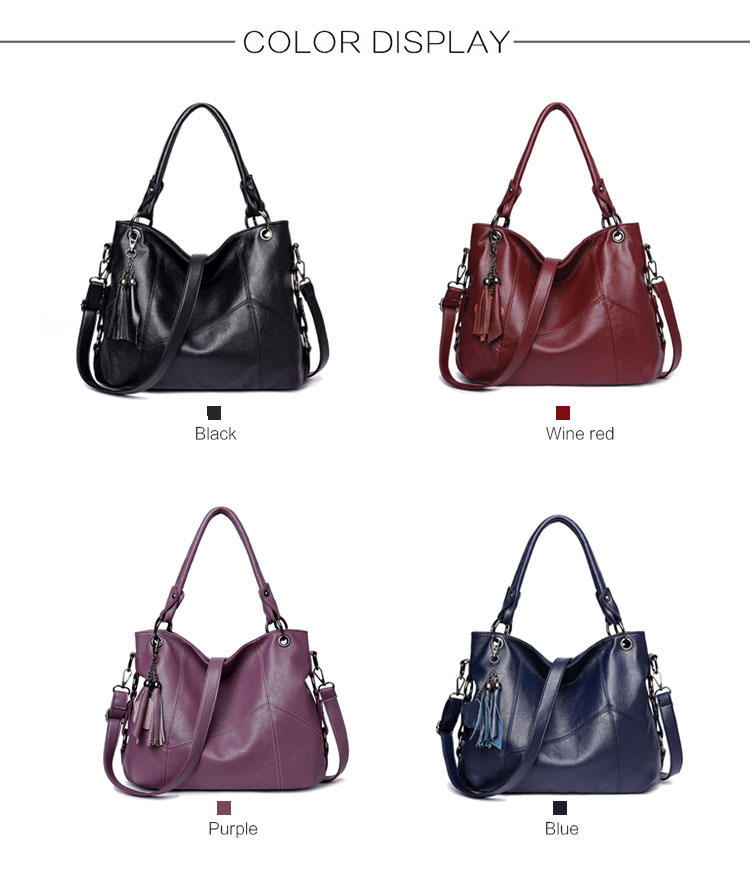 Bolsas de couro feminina designer borla crossbody