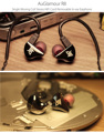 100% Newest AuGlamour R8  In-ear Earphone Single Moving Coil Metal Stereo Cord Removable Upgrade HIFI Earbuds DIY Headset