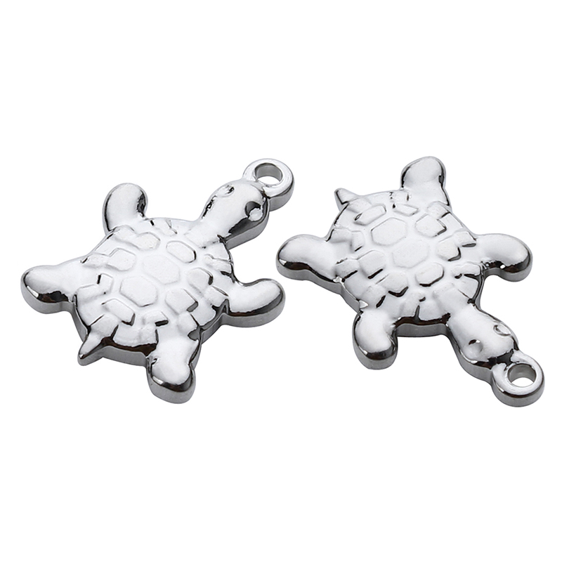 10pcs/lot Stainless Steel Animal Turtle Floating Charms Pendants 13*19mm Silver Tone Charms For Necklace Jewelry Making F3924