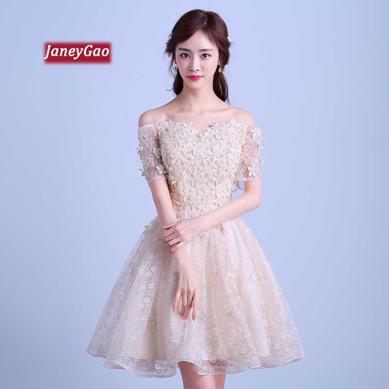 cedadd73963dd JaneyGao Short Prom Dresses For Women Elegant Golden Dress ...