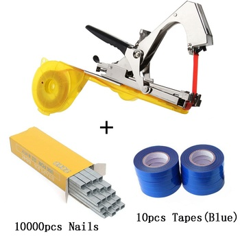 ALLSOME Plant Branch Tapetool Tapener Tapes Garden Tools Plant Tying Packing Vegetable Stem Strapping with 10 Roll Tapes HT2606 - Spain, set 4
