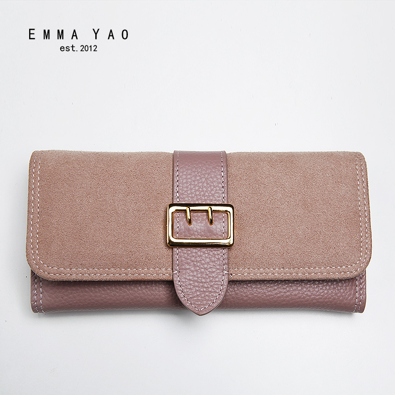 EMMA YAO Women's  leather wallet female brand coin purses holders hot fashion women bag