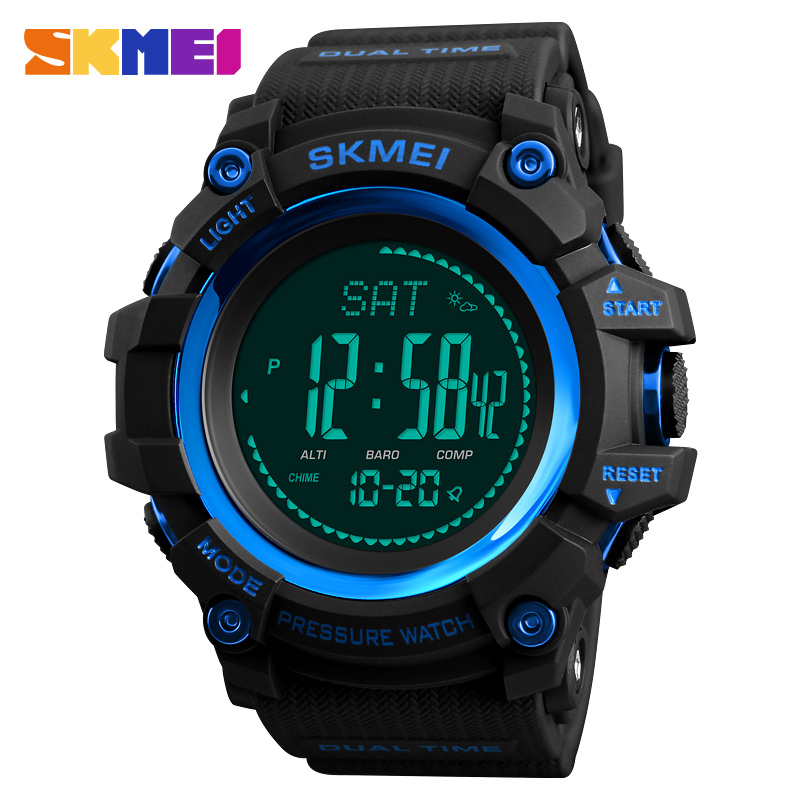 Outdoor Sports Watches Men SKMEI Brand Countdown LED Men's Digital Watch Altimeter Pressure Compass Thermometer reloj hombre mens sports watches men brand outdoor digital watch hours altimeter countdown pressure compass thermometer men wristwatch skmei