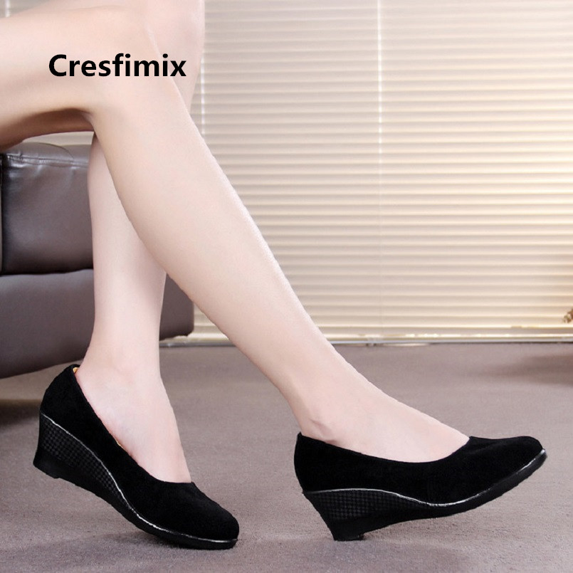 Zapatos De Mujer Women Fashion Spring Slip on Wedge Heel Shoes Lady Casual Retro Shoes Woman Cool Comfortable Cloth Shoes E3130Zapatos De Mujer Women Fashion Spring Slip on Wedge Heel Shoes Lady Casual Retro Shoes Woman Cool Comfortable Cloth Shoes E3130