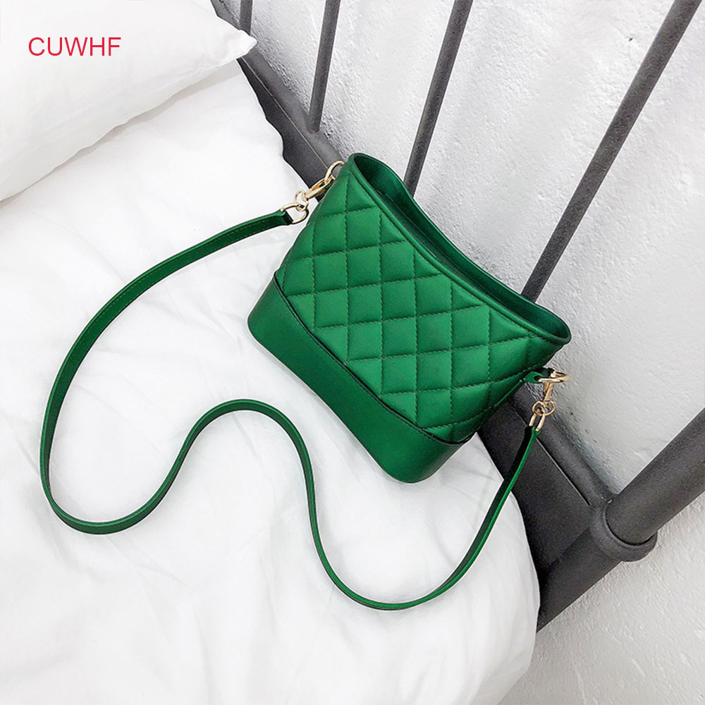 CUWHF Lozenge women bag Handbags Women Designer Female Shoulder Crossbody Bag Leather Luxury women's bags