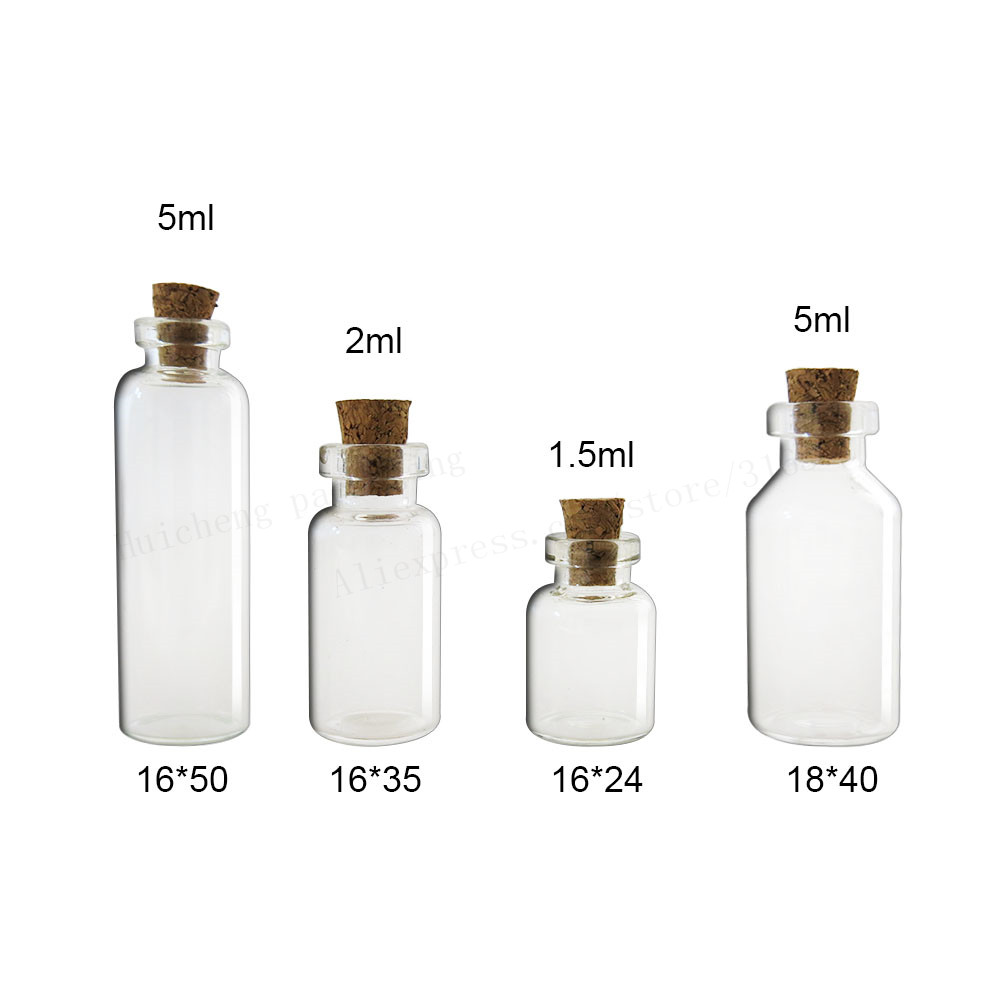 (DHL)Free Shipping - 500/lot 1.5ml Small Glass Bottle with Wood Cork, 1.5CC sample Vials, Miini Glass Bottle glass bottle