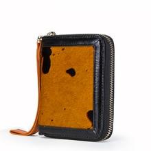 Купить с кэшбэком Brand Design Zipper Bag carteira Fashion Women Wallets Genuine Leather Short Coin Purse Female Clutch Credit Card Holder Wallet