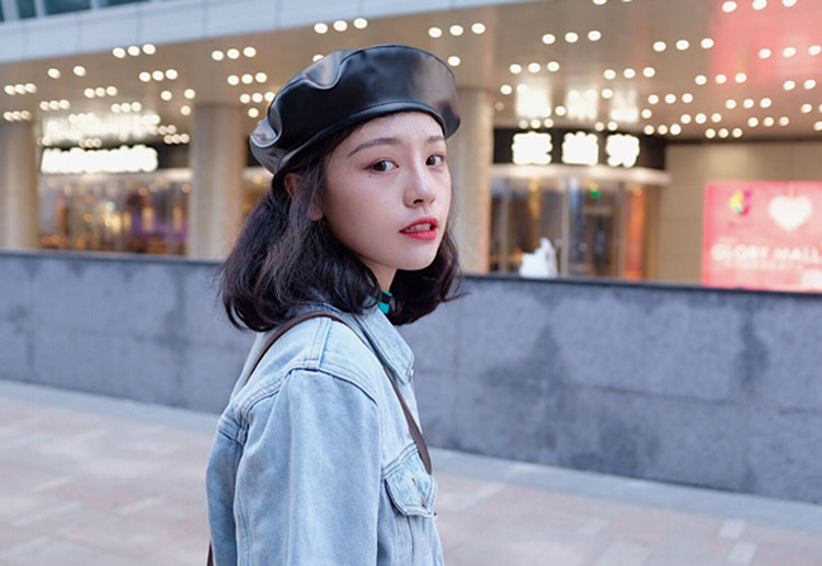 beret women winter french red black wool beret hat women french hat female beret women beret hats women leather beret women (3)