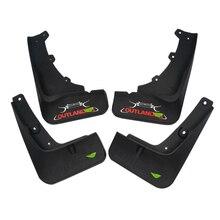 Высокое качество мягкого пластикового передних и задних колес брызговики 4 шт./компл. для Mitsubishi Outlander авто-Стайлинг