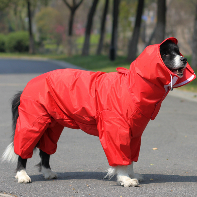 Pet Large Dog Raincoat Outdoor Waterproof Clothes Hooded Jumpsuit Cloak For Small Big Dogs Overalls Rain Coat Labrador