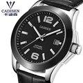 Cadisen relógio de aço inoxidável relógio automático masculino japão & gaivota movt relógio de pulso mecânico safira masculino relogio masculino 5atm