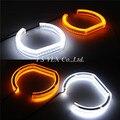 E90 sedan branco Amarelo LEVOU Angel eyes Para BMW E90 SMD LED anéis de halo luz daytime running luz com sinal de volta LED angel eyes