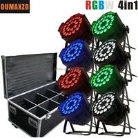 8 pçs/lote dj luzes led dmx 64 24x12w RGBW 4in1 Led Par Pode DMX Luz Par LEVOU 24*12W 64 4 em 1 RGBA RGBW Par LED Party Club DJ