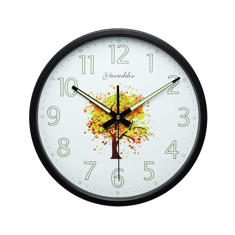 48ae4962c Yurudder جديد وصول 12 بوصة و moom مضيء تصميم إطار معدني الأزياء جولة ساعة  الحائط الحديثة ساعة الحائط الزخرفية في Yurudder جديد وصول 12 بوصة و moom  مضيء ...