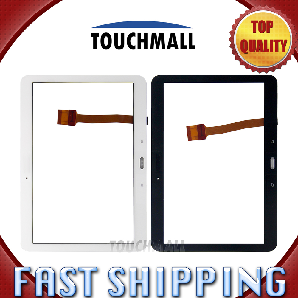 For New Touch Screen Digitizer Glass Replacement Samsung Galaxy Tab 4 10.1 SM-T530 T530 10.1-inch White Black Free Shipping аккумулятор для samsung galaxy tab 4 10 1 sm t530