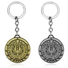 цена на Fashion Battlestar Galactica Keychain Can Drop shipping Metal Key Rings For Gift Chaveiro Key Chain Jewelry For Cars