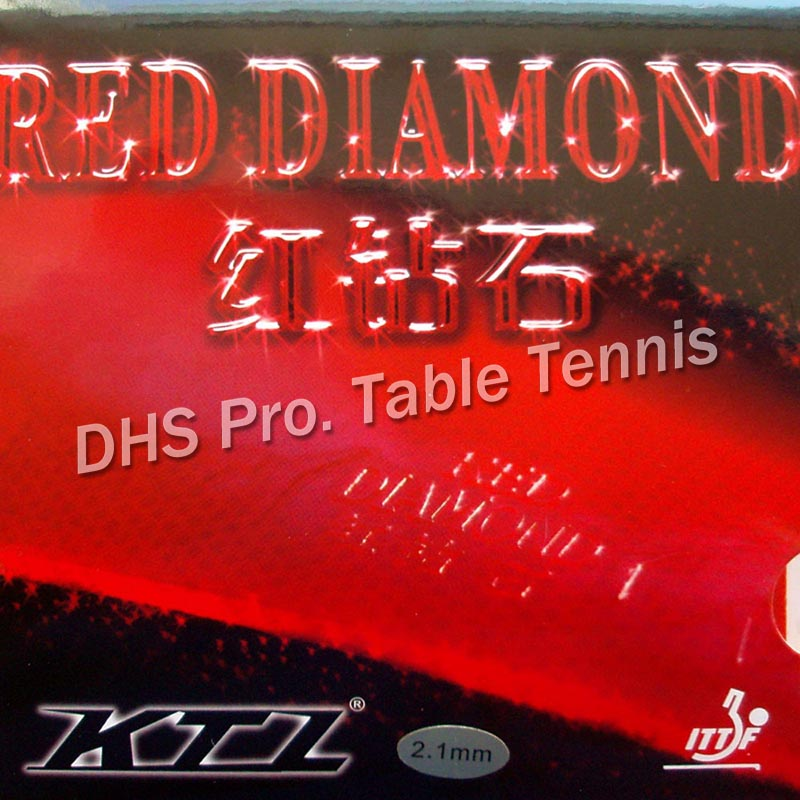 KTL RED DIAMOND Pips-In Table Tennis  Rubber With Sponge