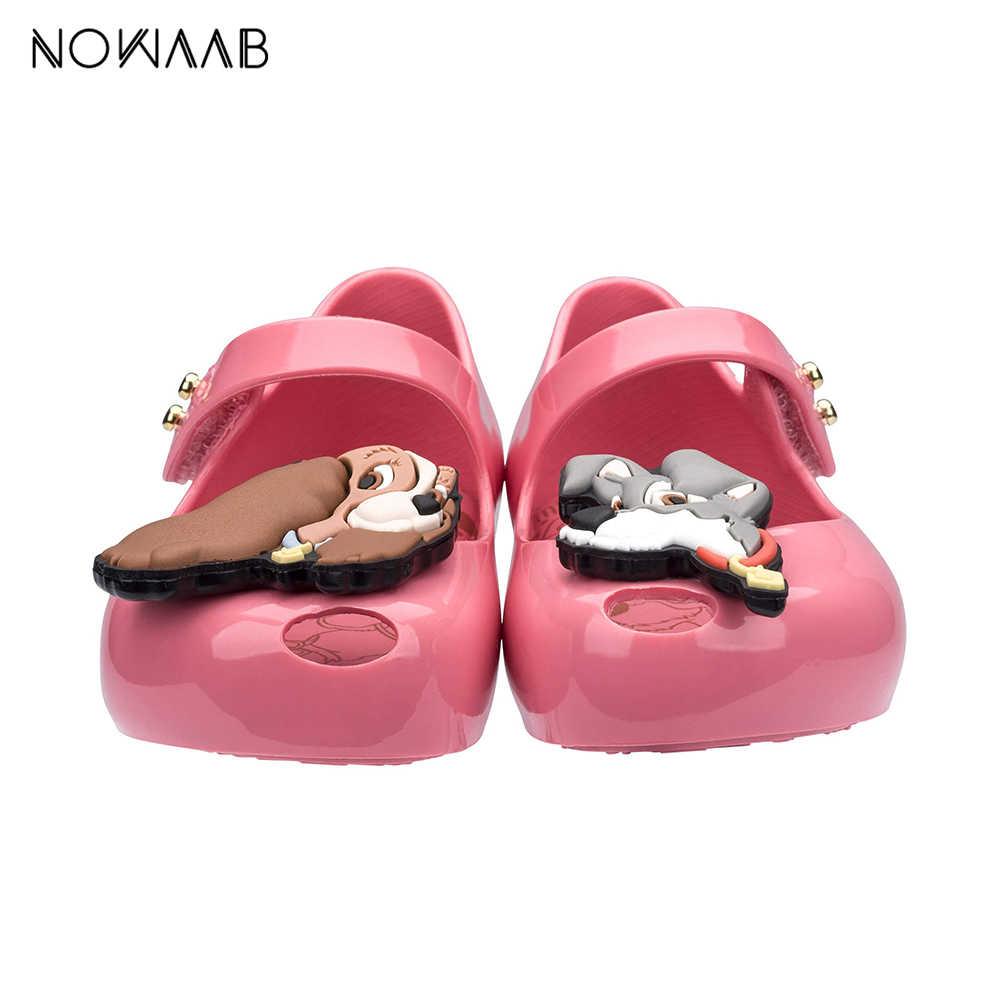 Mini Melissa Ultragirl + Lady i The Tramp 2019 letni chłopiec żelowe buty dziewczęce dziewczęce żelowe sandały dziecięce sandał na plażę maluch