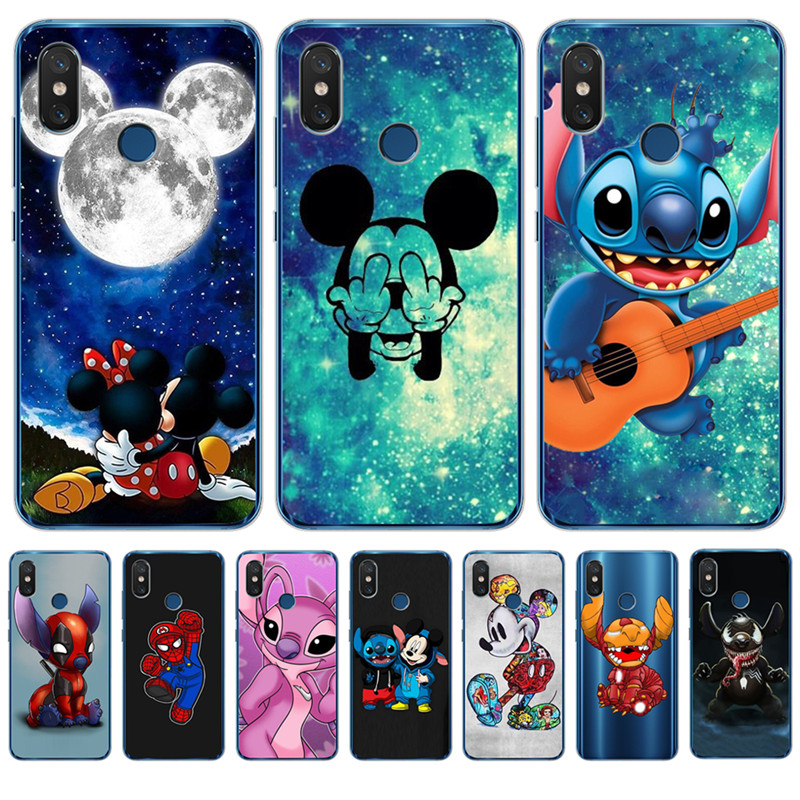 Luxury Stitch Mickey <font><b>marvel</b></font> For <font><b>xiaomi</b></font> <font><b>Redmi</b></font> Mi 8 6 A2 Lite 5X 6X A1 6A 4X 4A 5 Plus <font><b>Note</b></font> <font><b>4</b></font> 5A Prime Pro Cover <font><b>Case</b></font> Coque Etui image