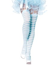 Blue and white striped / pink and white striped knee socks