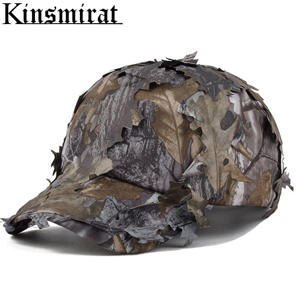 CS Καπέλο Καμουφλάζ 3D Τακτικής Γιούνι Sniper Bionic Ghillie Κυνήγι Αξεσουάρ Καπέλα Airsoft