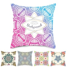 Fuwatacchi Nordic Cushion Cover Geometric Floral Painting Throw Pillow for Home Sofa Chair Decorative Pillows 45*45cm