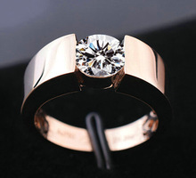Rose Gold /White Color Couple Rings Men Women Luxury Silver Plating Male Ring European and American Jewelry Gifts