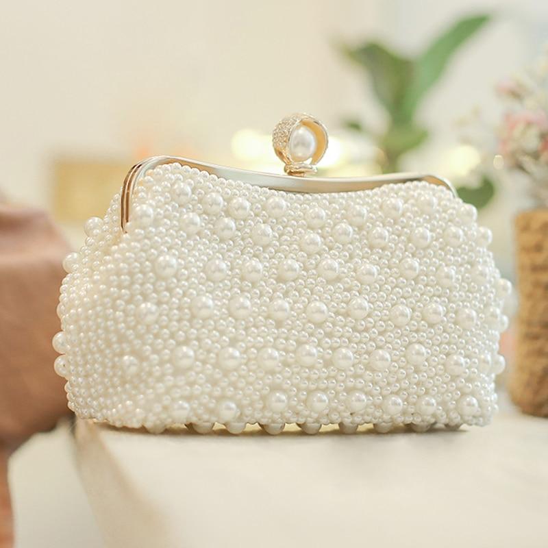 Handbag Pearl Day Clutch Luxury Women Bridal Wedding Totes Chain Crossbody Shoulder Bag Small Purse Crystal