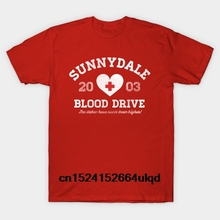 9f41b5f8 100% Cotton O-neck Custom Printed Tshirt Men T shirt Sunnydale Blood Drive -