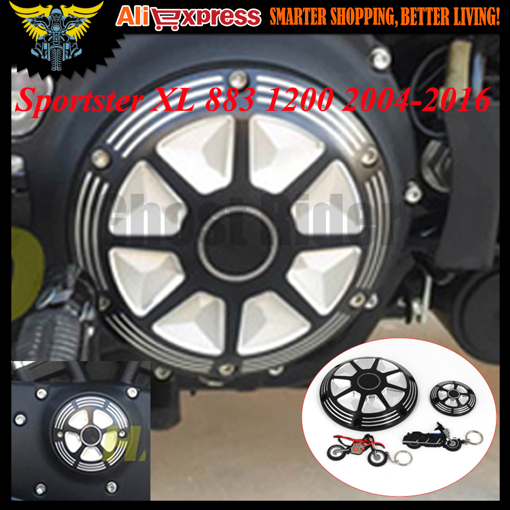 For Harley Sportster 883 1200 XL 2004-2016 2014 2015 CNC Deep Cut Motorcycle Derby Timing Timer Covers Engine Cover Protector 2017 new cnc motorcycle derby timing timer covers cover for harley davidson xlh xl 883 883l 1200c 1200l sportster 883n iron