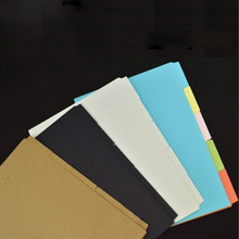 1 Set A6 Notebook Planner Accessories Black Blank Dividers Index page Bookmark Plate 5 sheets/Set Ma