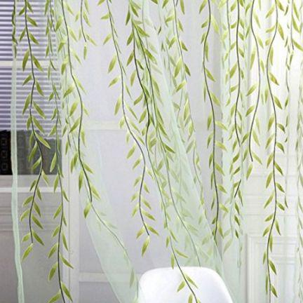 Adeeing Willow Tulle Room Window Curtain Sheer Voile Panel