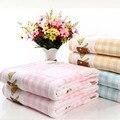 Estilo do verão do algodão cobertor para recém-nascidos capa banho do bebê toalha colcha manta crianças bebê cobertor da cama linho 105 * 105 cm 2015