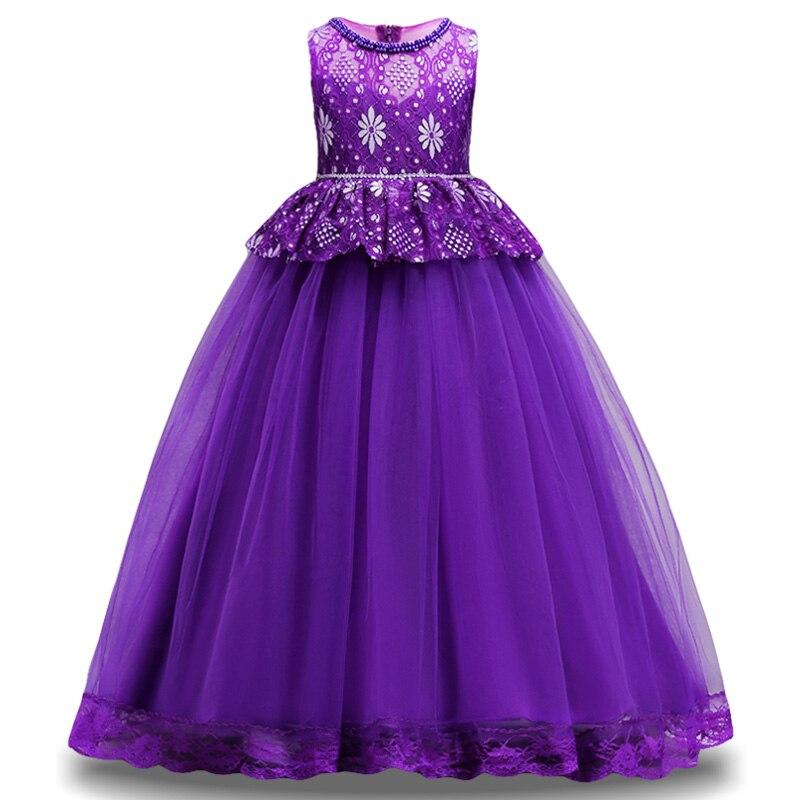 ٩(^‿^)۶LZH niños dama de honor flor de la boda Vestido de niñas para ...