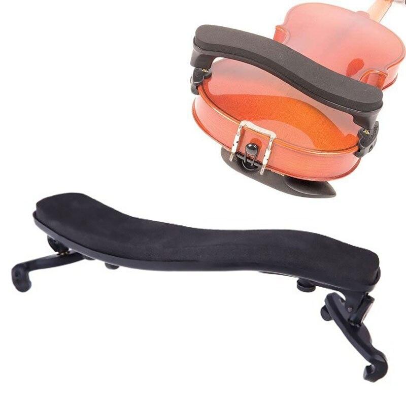Black Adjustable Shoulder Rest Pad Support For 3/4 4/4 Violin Height Angle