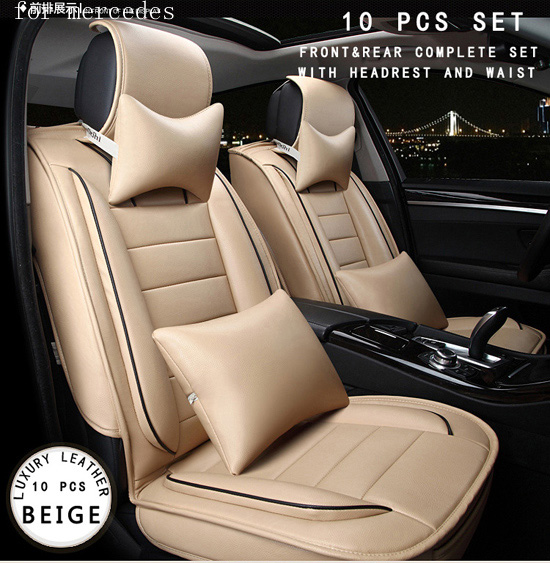 For benz mercedes w203 w204 w211 ML red brown brand designer luxury pu leather front&rear full car seat covers four seasons auto fuel filter 163 477 0201 163 477 0701 for mercedes benz