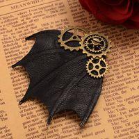 1 pz Halloween Costume Steampunk Marcia Bat Ala Spilla Accessori Per Capelli delle Clip di Capelli del Diavolo