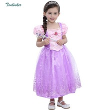 Halloween Girls Princess Rapunzel Party Costumes Tutu Dress-Up Fairy Tale Cosplay Dress Up First Communion 2-10T
