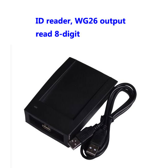 RFID reader, USB desk-top card dispenser, USB EM card reader,Read 8-digit, WG26 format output ,sn:09C-EM-26,min:5pcs