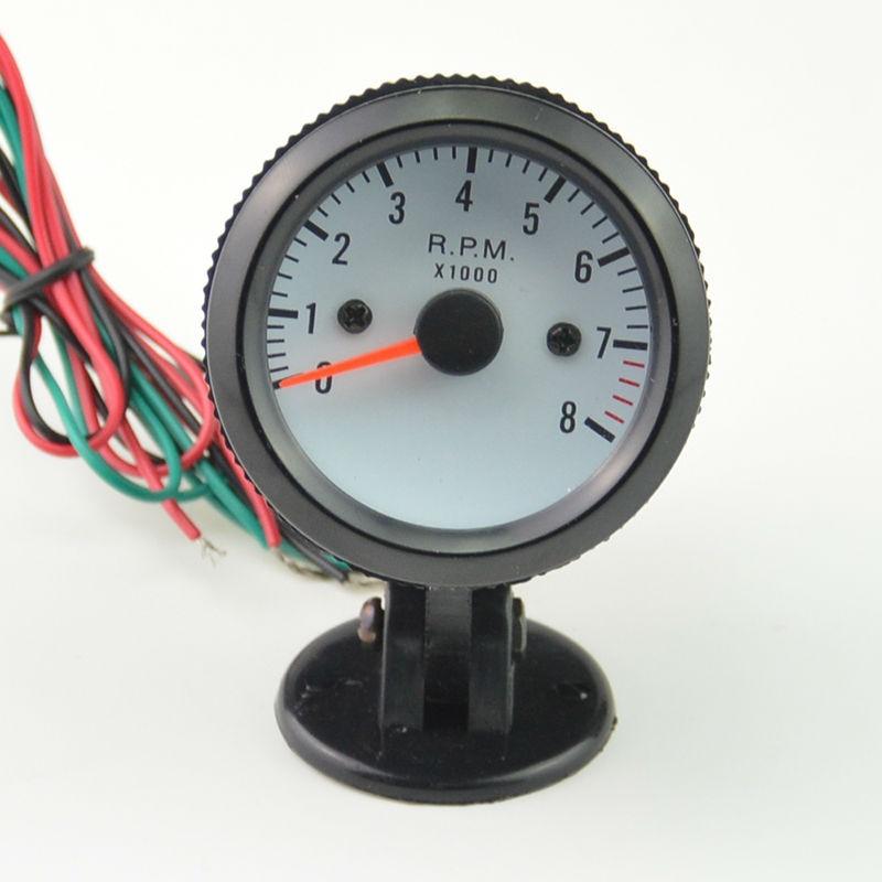 2 pouces 52 MM noir shell Voiture Rev Compteur Tachymètre Indicateur Jauge Compteur RPM Ambre + gousses Livraison gratuite