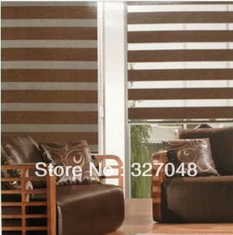Popular Zebra Blinds Double Layer Roller Ready Made Curtain Fabric