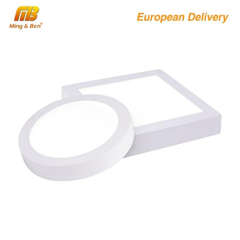 [MingBen] Led למטה אור 6 W 12 W 18 W 230 V LED כיכר עגולה משטח לוח אור רכוב תקרה למטה מנורה קר לבן חם לבן