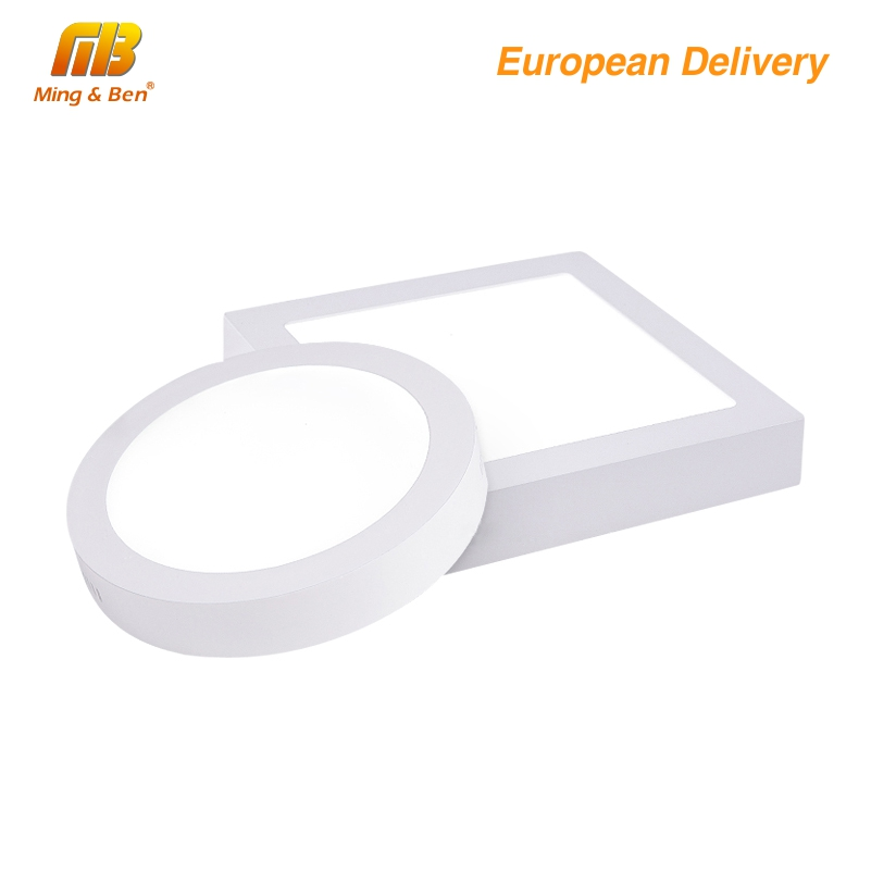 Led Down Light 6W 12W 220V 230V LED Round Square Panel Light Surface Mounted Ceiling Down Lamp Cold Warm White Ship Form Spain
